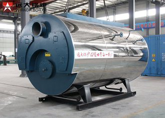 1 Ton Gas Steam Boiler 0.7MPa - 1.6MPa Rated Pressure Double Door Design